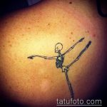 фото тату балерина №930 - крутой вариант рисунка, который хорошо можно использовать для преобразования и нанесения как тату балерины на руке