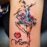 фото тату балерина №746 - классный вариант рисунка, который легко можно использовать для доработки и нанесения как тату балерина маленькая