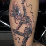 фото тату балерина №750 - достойный вариант рисунка, который успешно можно использовать для переработки и нанесения как тату балерина и волк