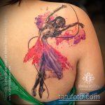 фото тату балерина №549 - достойный вариант рисунка, который хорошо можно использовать для преобразования и нанесения как тату балерина с лентой