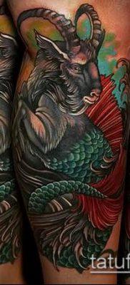 Фото тату козерог (значение) – пример интересного рисунка тату – 009 tatufoto.com