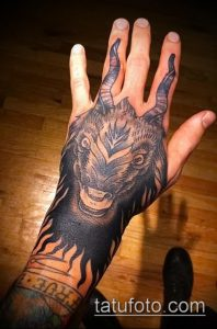 Фото тату козерог (значение) - пример интересного рисунка тату - 012 tatufoto.com