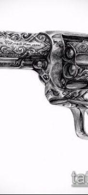 Фото тату револьвер (значение) – пример интересного рисунка тату – 003 tatufoto.com