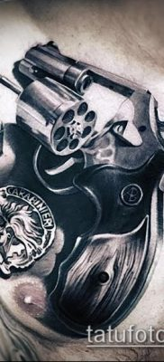 Фото тату револьвер (значение) – пример интересного рисунка тату – 034 tatufoto.com