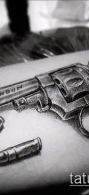 Фото тату револьвер (значение) – пример интересного рисунка тату – 046 tatufoto.com