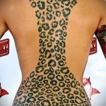 фото тату барс №765 - достойный вариант рисунка, который легко можно использовать для преобразования и нанесения как тату барс на животе