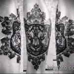 фото тату барс №406 - крутой вариант рисунка, который успешно можно использовать для преобразования и нанесения как тату барс надпись