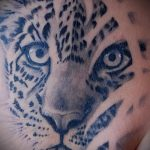 фото тату барс №353 - прикольный вариант рисунка, который успешно можно использовать для переработки и нанесения как тату барс тюремная