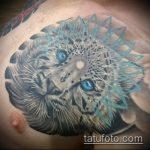 фото тату барс №776 - эксклюзивный вариант рисунка, который легко можно использовать для преобразования и нанесения как тату барс в берете