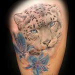 фото тату барс №33 - эксклюзивный вариант рисунка, который легко можно использовать для доработки и нанесения как тату барс на лопатке