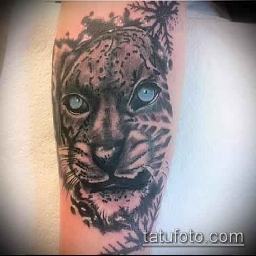 фото тату барс №174 - прикольный вариант рисунка, который успешно можно использовать для переработки и нанесения как тату барс на руке