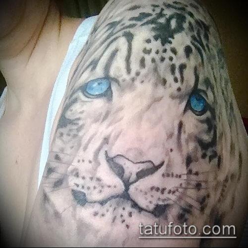 фото тату барс №250 - прикольный вариант рисунка, который хорошо можно использовать для доработки и нанесения как тату барс на лопатке