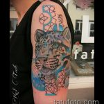фото тату барс №538 - достойный вариант рисунка, который удачно можно использовать для переработки и нанесения как татуировка барс на плече