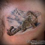 фото тату барс №338 - прикольный вариант рисунка, который хорошо можно использовать для преобразования и нанесения как тату барс на лопатке