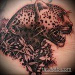 фото тату барс №290 - уникальный вариант рисунка, который удачно можно использовать для переделки и нанесения как татуировка барс на плече