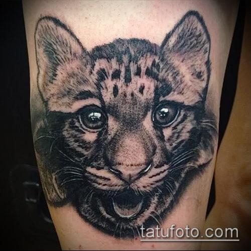 фото тату барс №878 - эксклюзивный вариант рисунка, который удачно можно использовать для переработки и нанесения как татуировка барс на спине