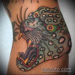 фото тату барс №162 - достойный вариант рисунка, который удачно можно использовать для переработки и нанесения как тату барса на ноге
