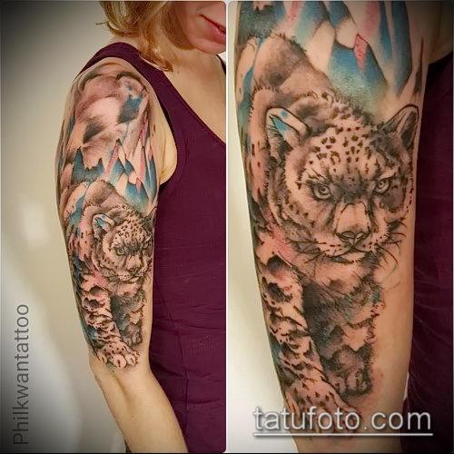 фото тату барс №553 - эксклюзивный вариант рисунка, который удачно можно использовать для переработки и нанесения как тату барс тюремная