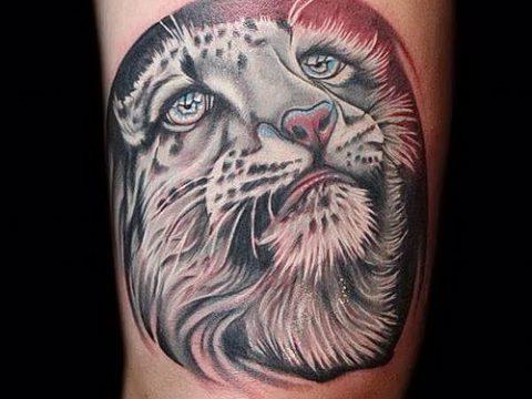 фото тату барс №631 - классный вариант рисунка, который удачно можно использовать для переработки и нанесения как тату барса на руке