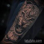 фото тату барс №523 - прикольный вариант рисунка, который хорошо можно использовать для переработки и нанесения как тату барс на руке