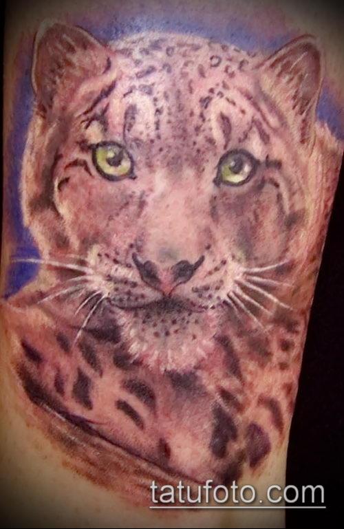 фото тату барс №124 - прикольный вариант рисунка, который легко можно использовать для доработки и нанесения как тату барс готика