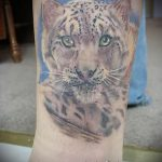 фото тату барс №896 - эксклюзивный вариант рисунка, который успешно можно использовать для переработки и нанесения как тату белый барс