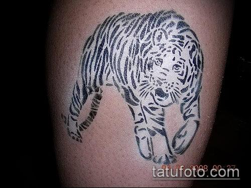 фото тату барс №167 - эксклюзивный вариант рисунка, который легко можно использовать для переработки и нанесения как тату барс готика