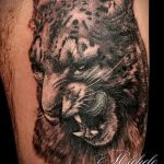 фото тату барс №142 - классный вариант рисунка, который хорошо можно использовать для преобразования и нанесения как тату барс на ноге