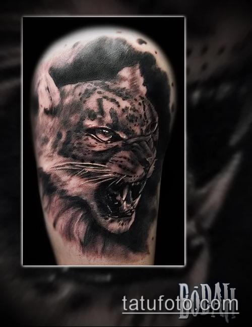 фото тату барс №896 - достойный вариант рисунка, который успешно можно использовать для переработки и нанесения как тату барса на ноге