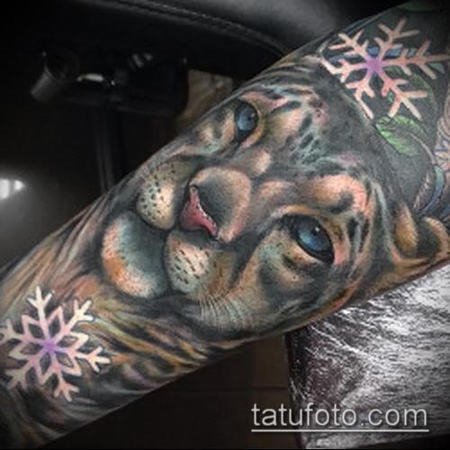 фото тату барс №346 - крутой вариант рисунка, который хорошо можно использовать для переделки и нанесения как татуировка барс на спине