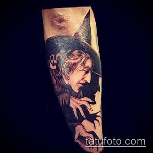 фото тату ведьма №673 - интересный вариант рисунка, который легко можно использовать для переделки и нанесения как тату ведьмак