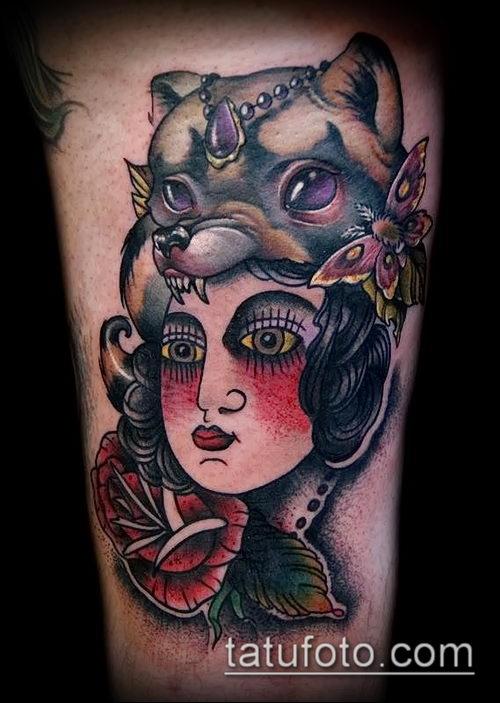 фото тату ведьма №790 - прикольный вариант рисунка, который удачно можно использовать для преобразования и нанесения как тату ведьмака на руке