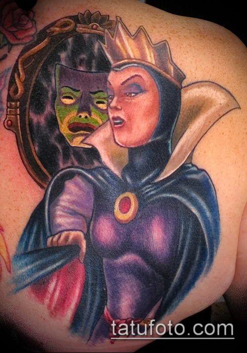 фото тату ведьма №234 - эксклюзивный вариант рисунка, который хорошо можно использовать для переделки и нанесения как тату ведьма на костре лес