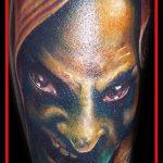 фото тату ведьма №369 - интересный вариант рисунка, который хорошо можно использовать для переработки и нанесения как тату ведьма на метле