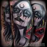 фото тату ведьма №33 - достойный вариант рисунка, который удачно можно использовать для переделки и нанесения как тату ведьма на метле