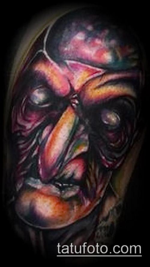 фото тату ведьма №834 - крутой вариант рисунка, который успешно можно использовать для переделки и нанесения как татуировка ведьма на метле