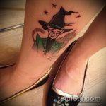 фото тату ведьма №843 - интересный вариант рисунка, который хорошо можно использовать для переделки и нанесения как тату ведьма мультик
