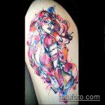 фото тату ведьма №707 - достойный вариант рисунка, который успешно можно использовать для переработки и нанесения как тату ведьмака на руке