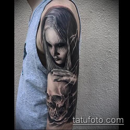 фото тату ведьма №809 - интересный вариант рисунка, который успешно можно использовать для доработки и нанесения как тату ведьма руны