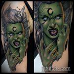 фото тату ведьма №877 - достойный вариант рисунка, который удачно можно использовать для преобразования и нанесения как тату ведьма на костре