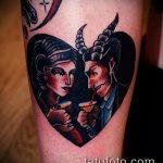 фото тату ведьма №109 - эксклюзивный вариант рисунка, который удачно можно использовать для переработки и нанесения как тату ведьмак