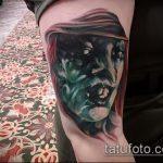 фото тату ведьма №821 - классный вариант рисунка, который удачно можно использовать для доработки и нанесения как тату ведьма мультик