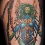 фото тату ведьма №48 - крутой вариант рисунка, который удачно можно использовать для доработки и нанесения как тату ведьма руны