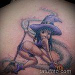 фото тату ведьма №626 - интересный вариант рисунка, который успешно можно использовать для преобразования и нанесения как тату ведьма на костре лес