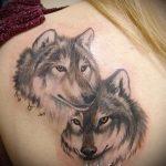 фото тату волчица №876 - прикольный вариант рисунка, который легко можно использовать для преобразования и нанесения как тату волчица и волчата