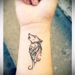 фото тату волчица №666 - интересный вариант рисунка, который успешно можно использовать для преобразования и нанесения как тату волчица и волк