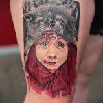 фото тату волчица №961 - достойный вариант рисунка, который удачно можно использовать для преобразования и нанесения как тату волчица и ребенок
