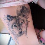 фото тату волчица №756 - эксклюзивный вариант рисунка, который легко можно использовать для переделки и нанесения как тату волчица на плече
