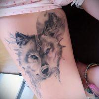 Фото тату волчица
