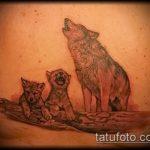 фото тату волчица №782 - классный вариант рисунка, который хорошо можно использовать для переработки и нанесения как тату волчица и волчонок